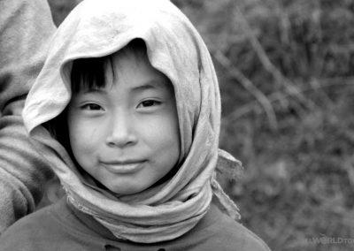 Bhutan girl scarf