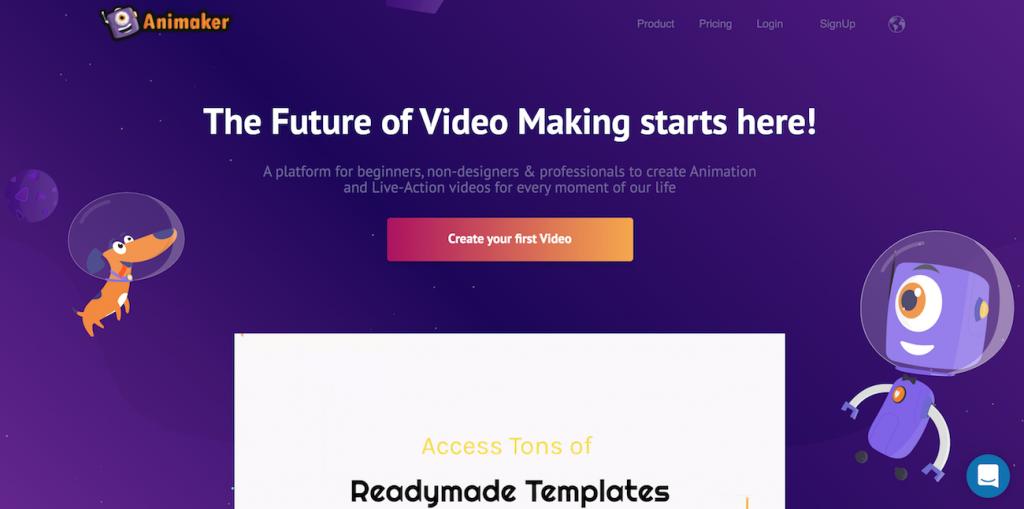 Animaker online video editor