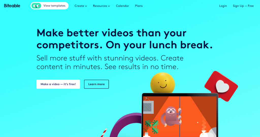 Biteable Best Free online video editor